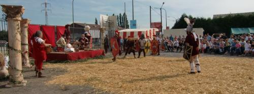 Gouy-lez-Piéton 2014 - Combats - Vue générale - préparation du combat