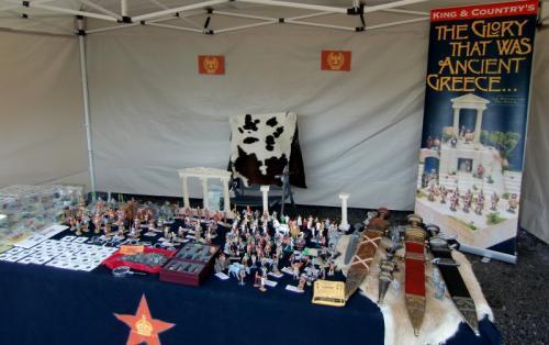 Gouy-lez-Piéton 2014 - Stand du Royaume du Soldat - vue d'ensemble du stand