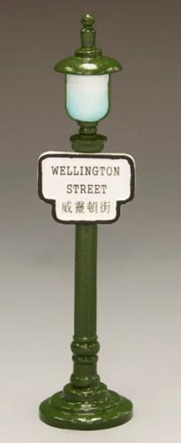 HK196 - Street Sign Lamppost Wellington Street