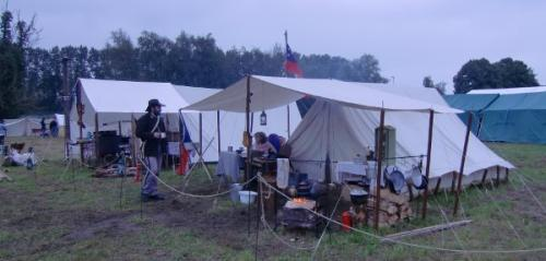 Havré 2014 - vue d'un campement
