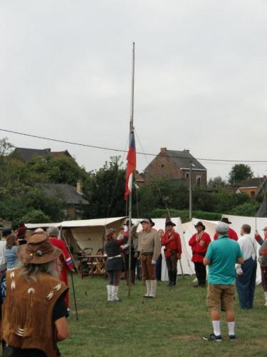 Havré 2019 - Camp ... Cérémonie du lever du drapeau sudiste (suite)