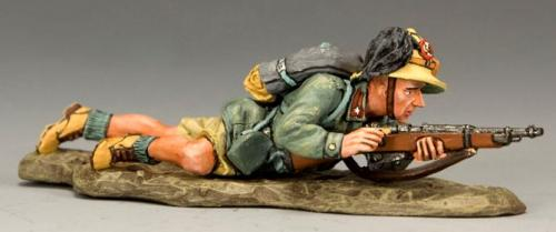 IF022 - Italian Lying Prone with Rifle