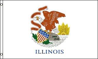 Illinois Flag - Drapeau de l'état américain de l'ILLINOIS - EN STOCK