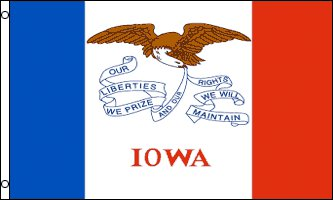 Iowa Flag - Drapeau de l'état américain de l'IOWA - EN STOCK