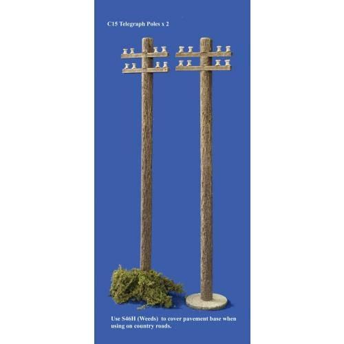 JG Miniatures - C15 - Telegraph pole x 1