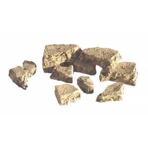 JG Miniatures - S46A - Pack of small desert rocks (paquet de petites roches du désert)