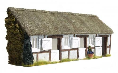 JG Miniatures - C05 - Thatched stable facade
