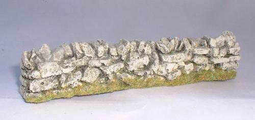 JG Miniatures - C08a - straight dry stone wall -1-32