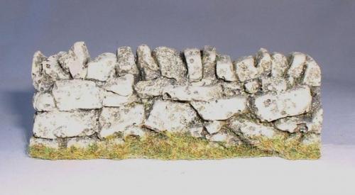 JG Miniatures - C08b - 3 straight dry stone wall