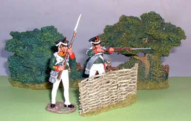 JG Miniatures - C13 - Wicker Fence Section - diorama avec figurines King and Country au 1-30ème