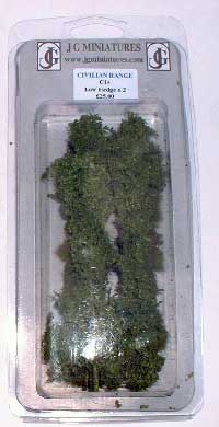 JG Miniatures - C14 - Low field hedge pack of 2