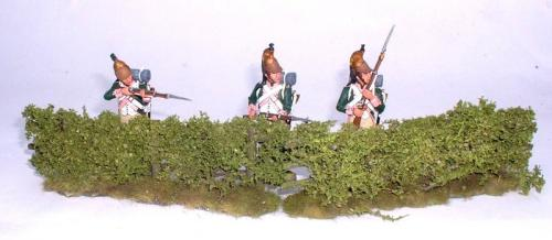 JG Miniatures - C14 - Low field hedge pack of 2 - diorama avec figurines King and Country au 1-30ème