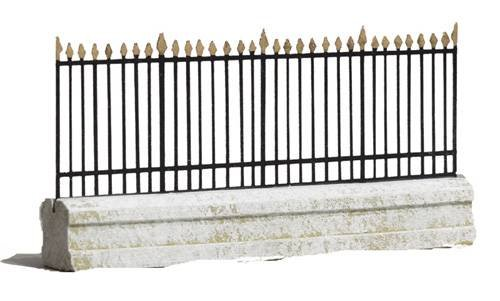 JG Miniatures - C34 - Park wall with railings