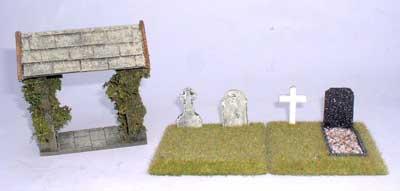 JG Miniatures - C39A - Lych Gate (cimetière)