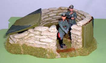 JG Miniatures - M04 - Aircraft Spotting Post - diorama avec figurines King and Country au 1-30ème