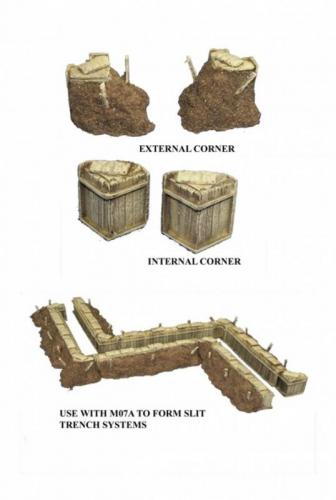 JG Miniatures - M07B - Slit trench corners