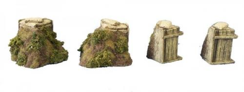 JG Miniatures - M08B - Trench corners (grass)