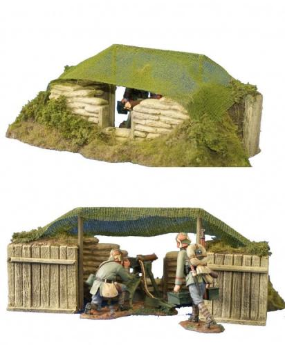JG Miniatures - M08 - MG Nest (Grass Version)