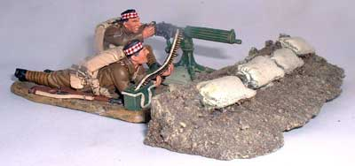 JG Miniatures - M09 - Sandbag and Board Defences - diorama avec figurines de King and Country au 1-30ème