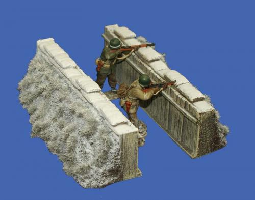 JG Miniatures - M14 a - Slit Trench Set (Winter)