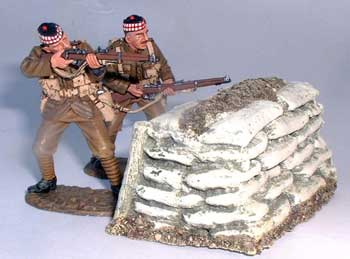 JG Miniatures - M28 - Barricade Staight - diorama avec figurines de King and Country au 1-30ème