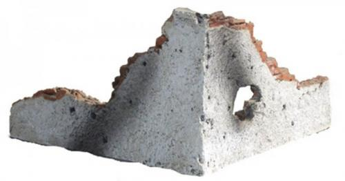 JG Miniatures - M29 b - Ruined walls L section