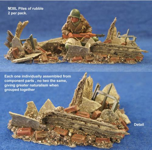 JG Miniatures - M38 l - Piles of Rubble
