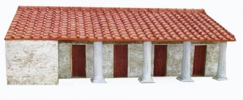 JG Miniatures - M43 j - Roman fort barrack facade with columns