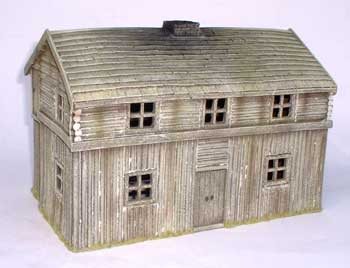 JG Miniatures - M44 d - American log fort bunkhouse