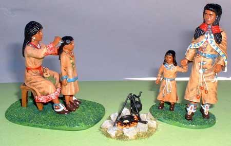 JG Miniatures - M49 - Camp fire - diorama avec figurines Rylit au 1-30ème
