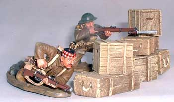 JG Miniatures - M50 - Munitions boxes set of 6 - diorama avec figurines King and Country au 1-30ème