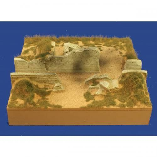 JG Miniatures - M52 b - D-day cliff section with machine gun nest
