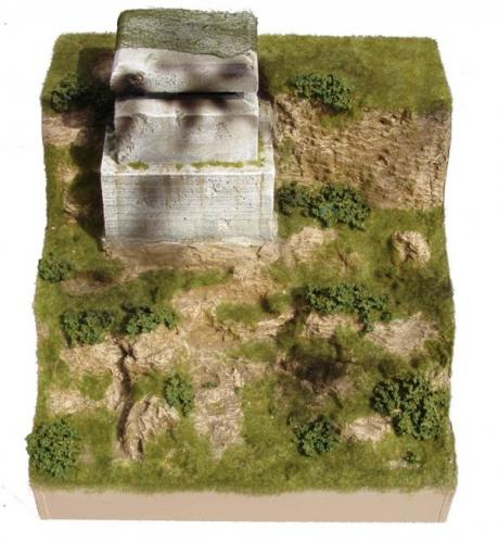 JG Miniatures - M52 e - D-day cliff with concrete bunker