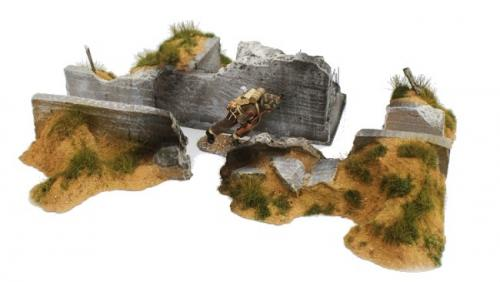 JG Miniatures - M53 c - Ruined bunker trench set