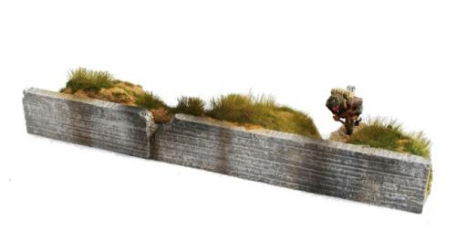 JG Miniatures - M53 d - Sea wall trench side