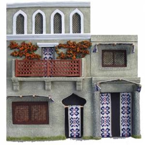 JG Miniatures - N03 - 2 storey asian or Indian building with arched windows