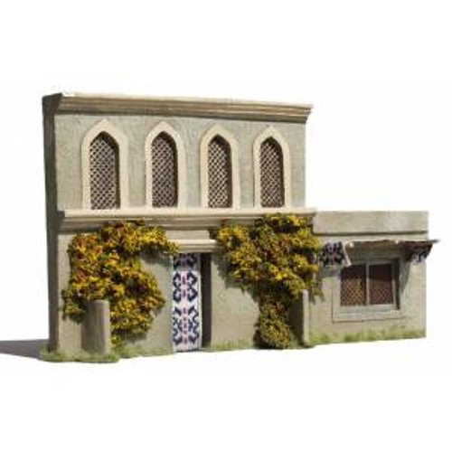 JG Miniatures - N06 - 1st floor asian or indian building with arched windows