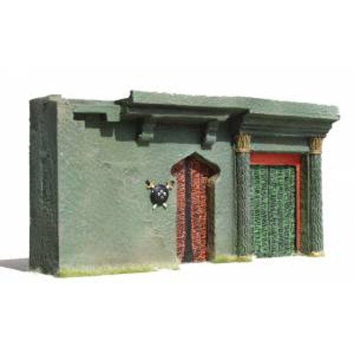 JG Miniatures - N07 - Ground floor asian or indian building building with steps