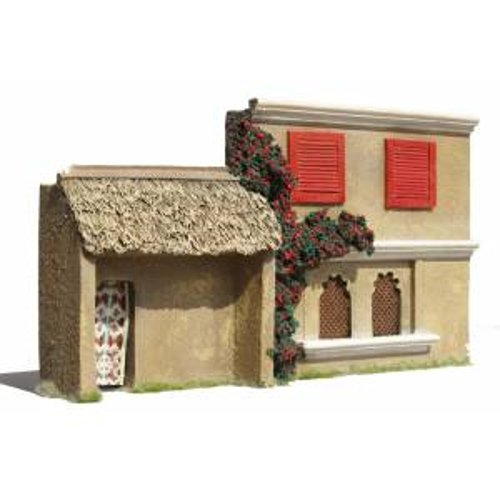 JG Miniatures - N08 - 1st floor asian or indian buildingwith louvre