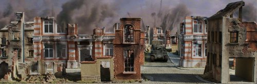 JG Miniatures - NP02 - Ruined Town 01 poster (76 cm X 25 cm)