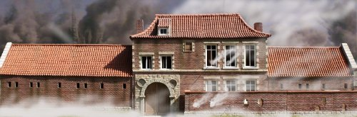 JG Miniatures - NP04 - Hougoumont On Fire Waterloo poster