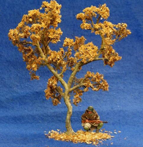 JG Miniatures - S02B - Small Oak Tree in autumn (petit chêne en automne)