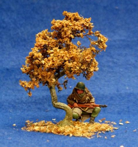 JG Miniatures - S04A - Bush Oak in Autumn (petit chêne-buisson en automne)