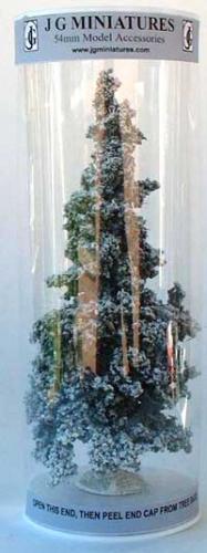 JG Miniatures - S05a - Small winter Fir (sapin enneigé)