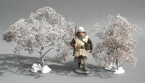 JG Miniatures - S08D - Tall winter bush (grand buisson d'hiver)