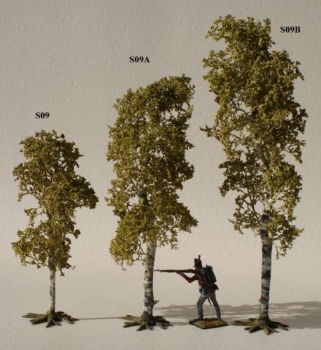 JG Miniatures - S09 + S09A + S09B - Birch tree (bouleau)