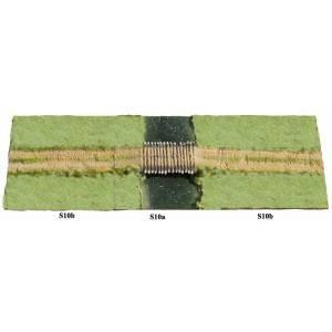 JG Miniatures - S10A - River section with log bridge (rivière avec pont)