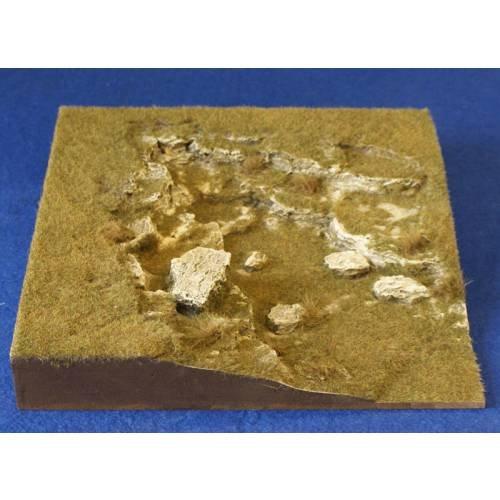 JG Miniatures - S22C - Grass slope corner (cove)
