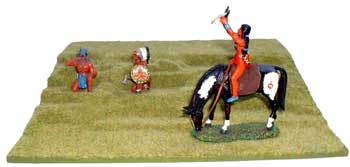 JG Miniatures - S22a - Green grass slope - diorama with new Lineol and Rylit Indians