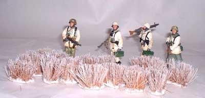 JG Miniatures - S35 - Winter grass (roseaux gélés) - diorama avec figurines King and Country au 1-30ème